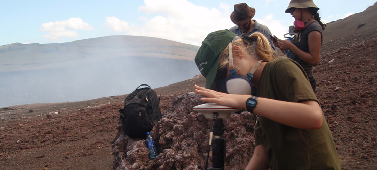 Earthwatch volcanologists working on Masaya Volcano, NIcaragua