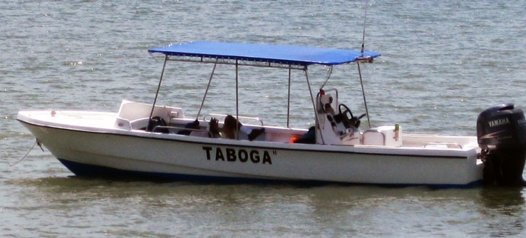 The research vessel – the boat's named after the captain, Taboga.