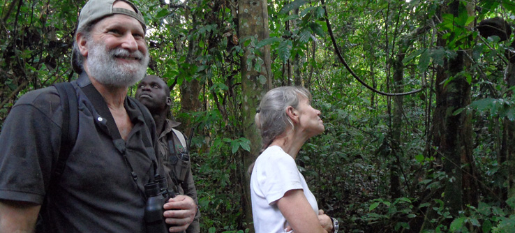 Earthwatch research team in Budongo Forest Reserve, Uganda