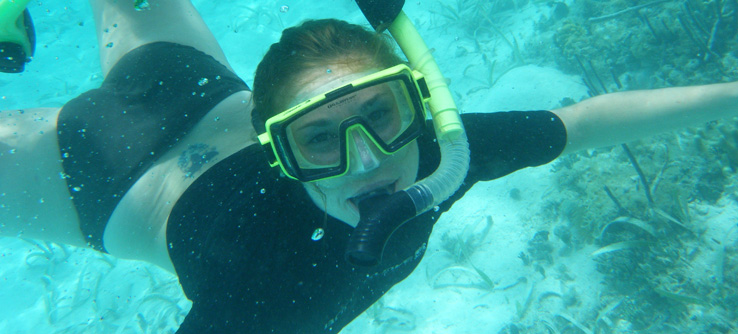 Field research is especially fun when it involves snorkeling.