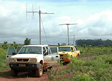Research vehicles used to radio-track jaguars