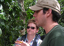 Sebastián Castro Tanzi visiting a Costa Rican coffee plantation.
