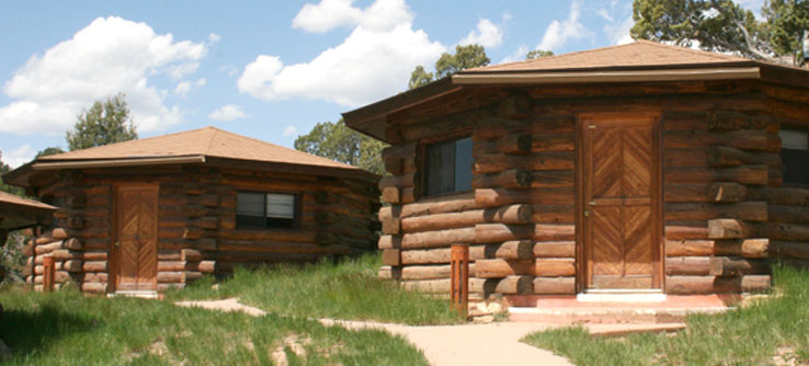 Volunteers stay in Navaho-style hogans near Cortez, Colorado.