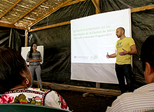 EY ambassadors giving farmers a presentation in Mexico