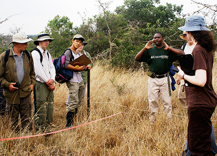 Earthwatch volunteers in the field, Kenya