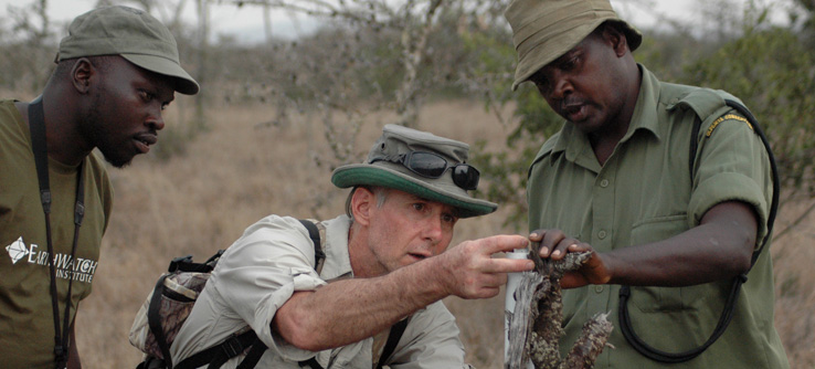 Earthwatch researchers in the field, Kenya