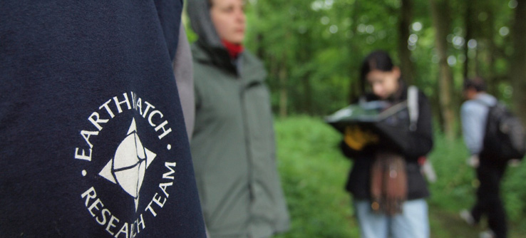 Climate research volunteers in UK forest