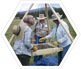 Volunteer archaeologists, New Mexico, USA