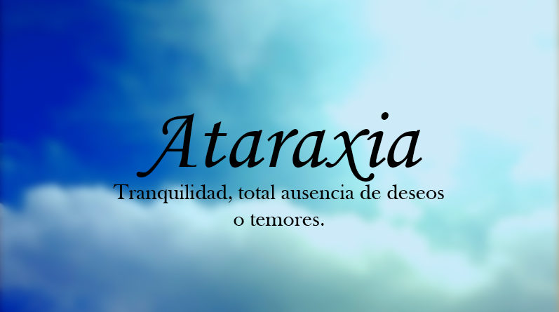 Resultado de imagen de ataraxia