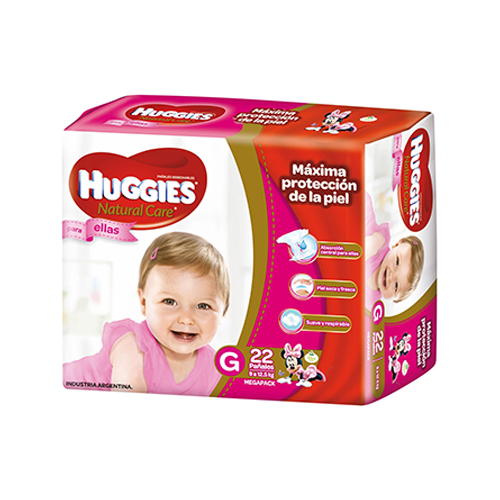 Huggies Nc Mega Ellas Gx22 - $ 299,00 en Mercado Libre