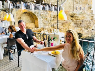 Turn on images to see my wife and I in Italy...