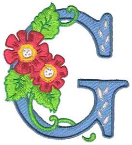 Flower Letter G ...G Design Letter