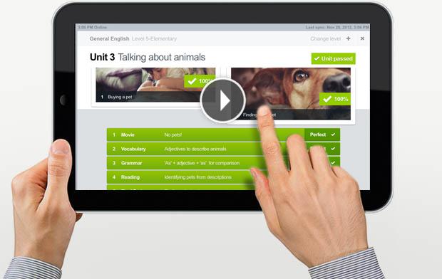 Online English School on iPad