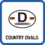 Country Oval Decals