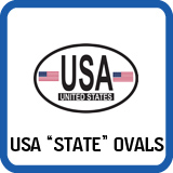 United States Oval Decals