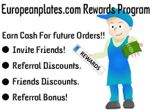 Europeanplates.com Rewards Program