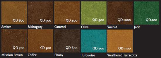 concrete acetone dye stain