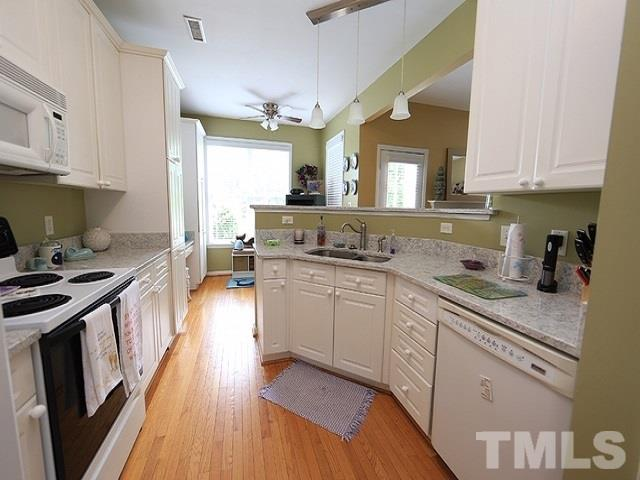 The kitchen  and breakfast flow to the family room and dining room  Excellent entertaining
