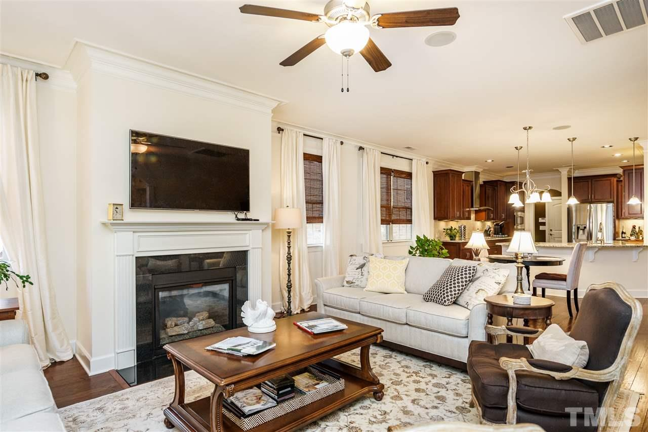 What a lovely gathering spot for friends!  Light pours in from the windows that look toward the Wyndfall at Regency neighborhood and the woods in between.  Even in winter you don't see houses!