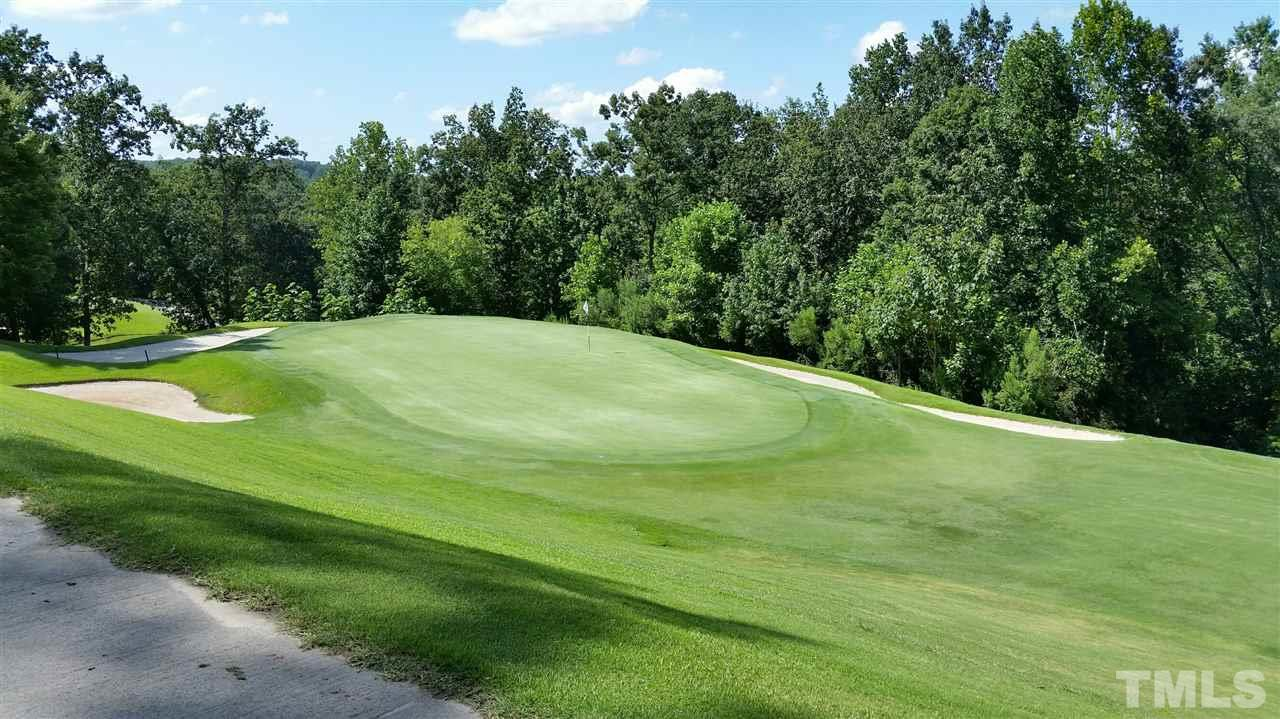 View over the fairway and green of the Par 4 20th hole.