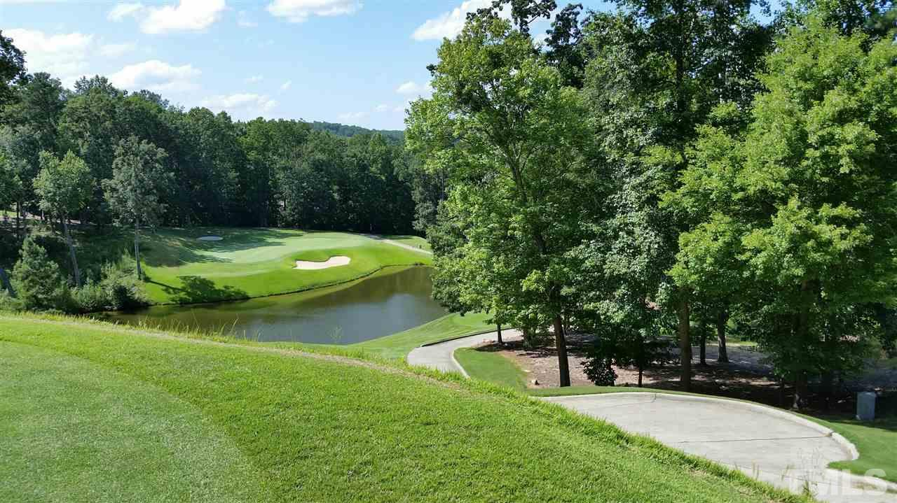 Overlooking the Par 3 21st hole over the pond.