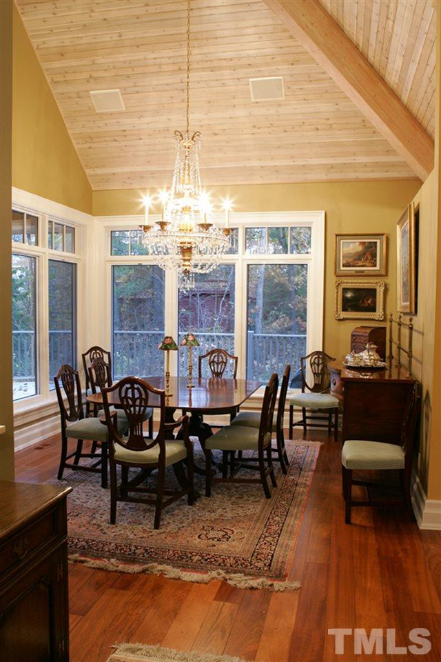 Consider adding French doors from the Dining Room to the wrap around deck to enhance the space.