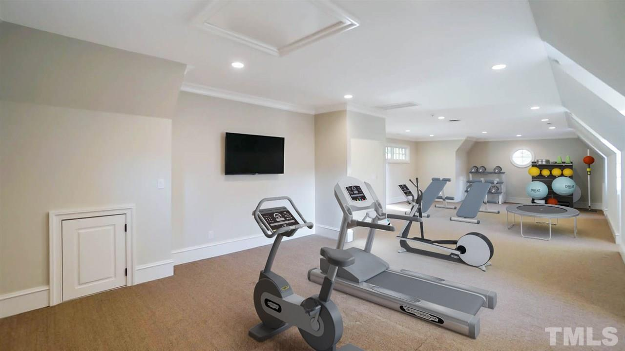Turn this private space into a state of the art exercise room, manage your home based business, create an amazing man cave/flex room.  Has 1/2 bath