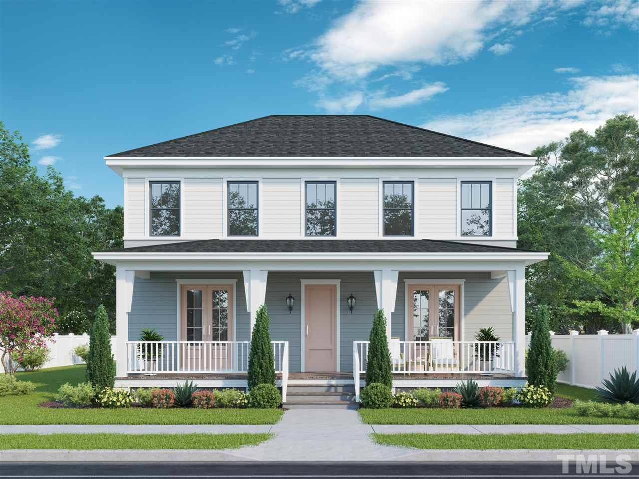 Artist rendering of this beautiful 4-square style new home. Picture yourself sipping lemonade on that beautiful front porch!