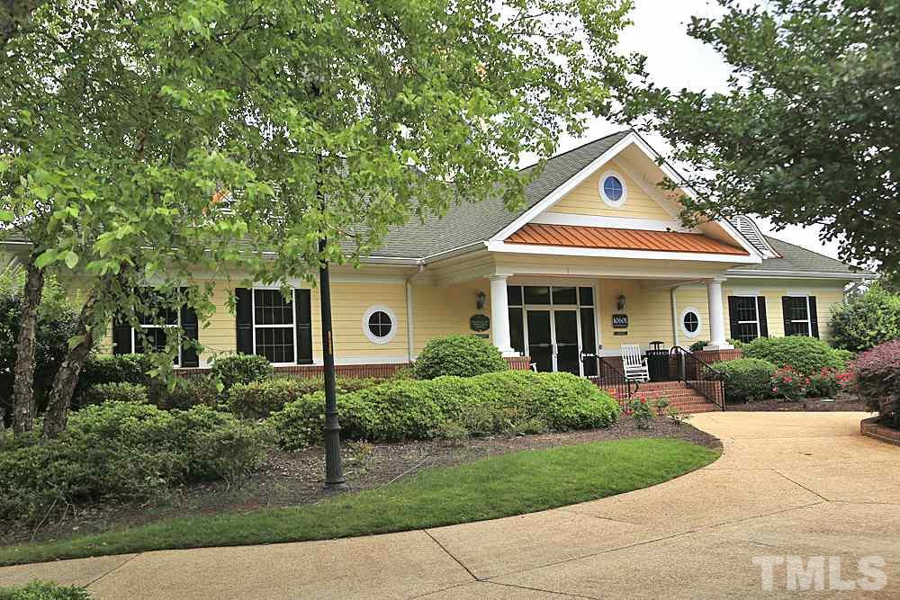 This is a photo of the pool house.  There is also the clubhouse.  A social membership is required if you live in Brier Creek Country Club, but options for fitness/pool/golf are available.