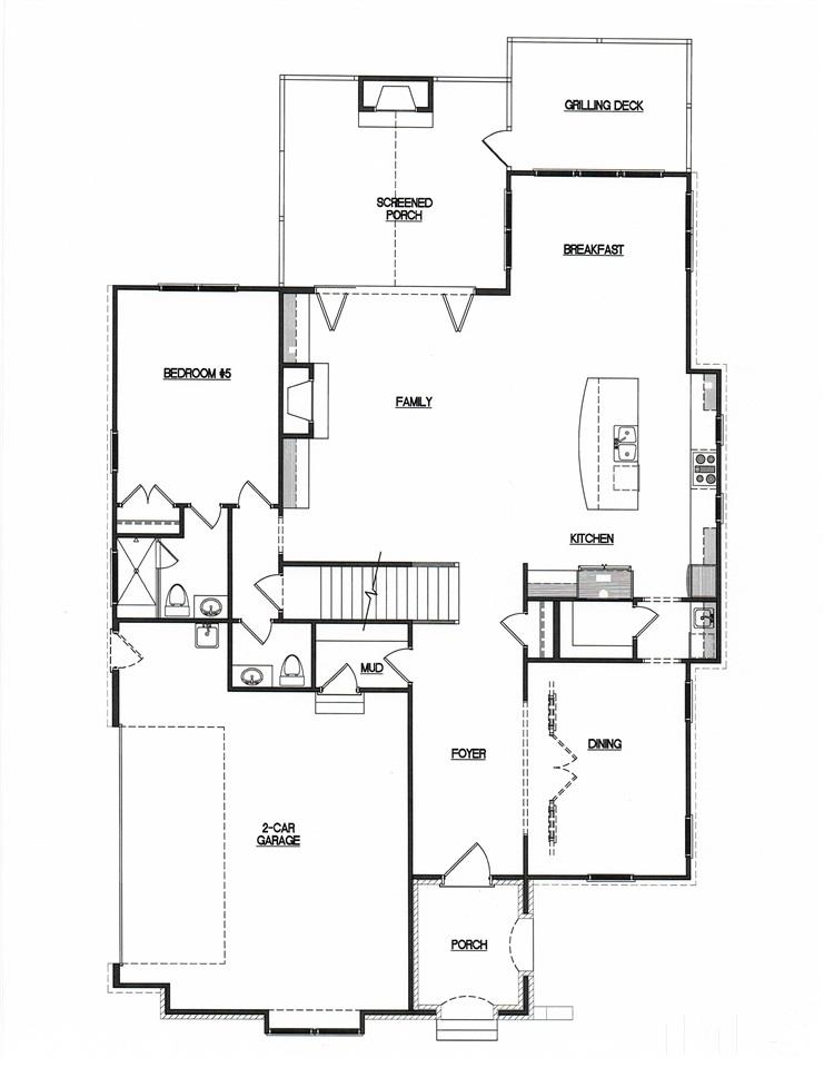 Open Floorplan w/10' Ceilings, Butler's Pantry, Walk-in Pantry, Private Guest Suite, Screen Porch & Sep. Grilling Deck.