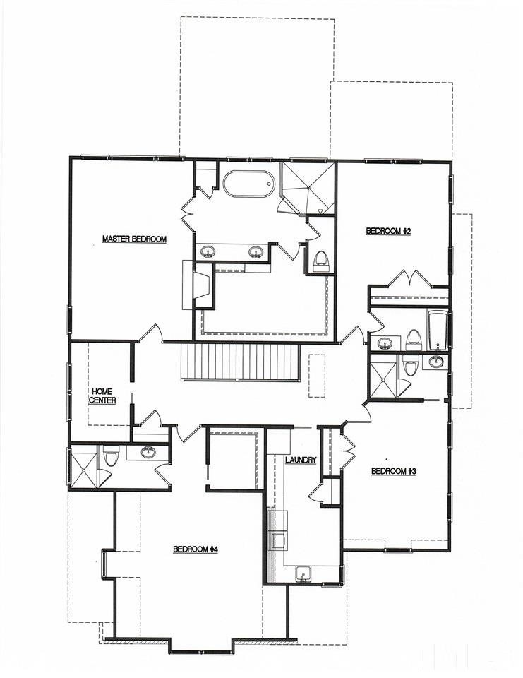 Notice the Master Suite w/Fireplace and Huge WIC.  Plus a Huge Laundry Room & Home Center (ie, Study or Homework Station)