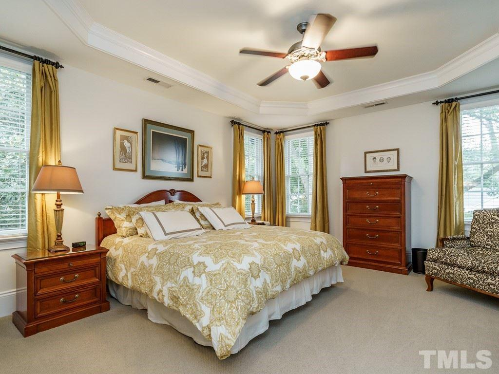 The centerpiece of the master suite is a spacious master bedroom with windows on two sides plus a trey ceiling.