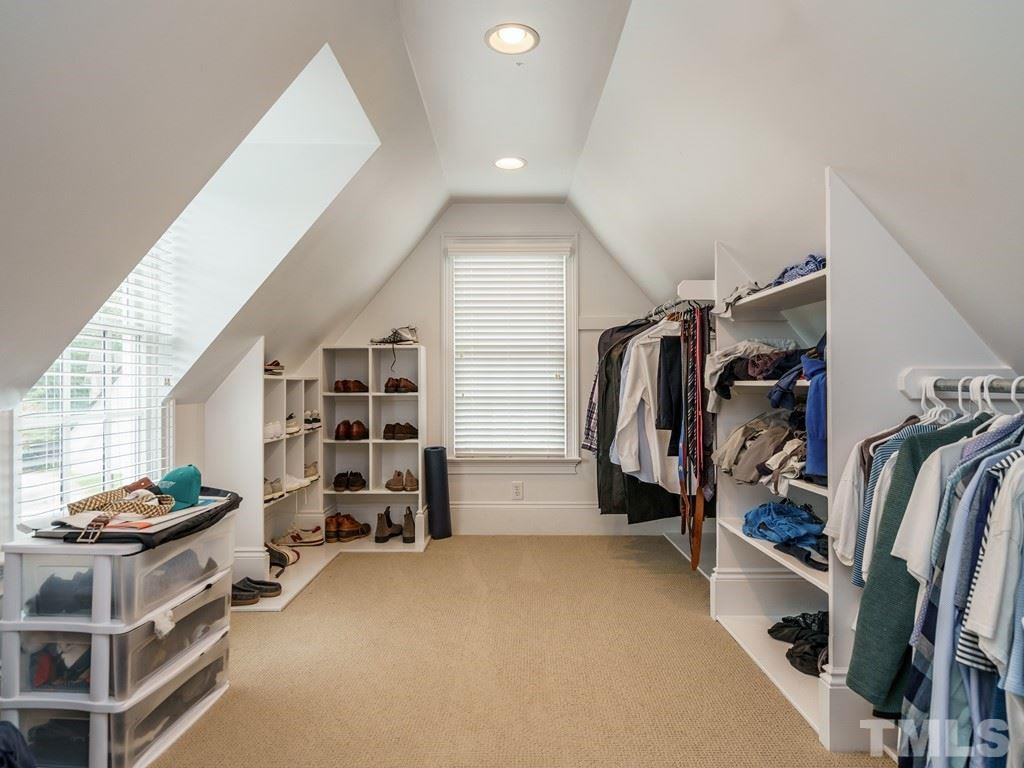 This closet is room size.