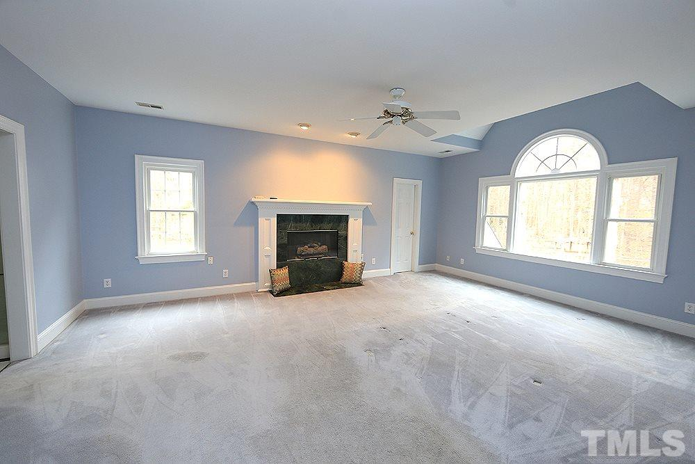 This bedroom connects directly to the large hall bath.