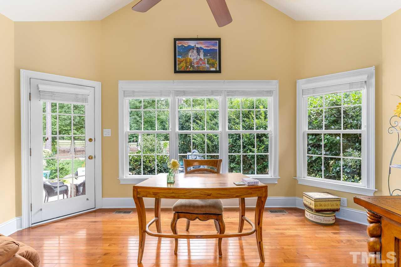 Flex room in master bedroom with plenty of natural light and of course, a view of the golf course.