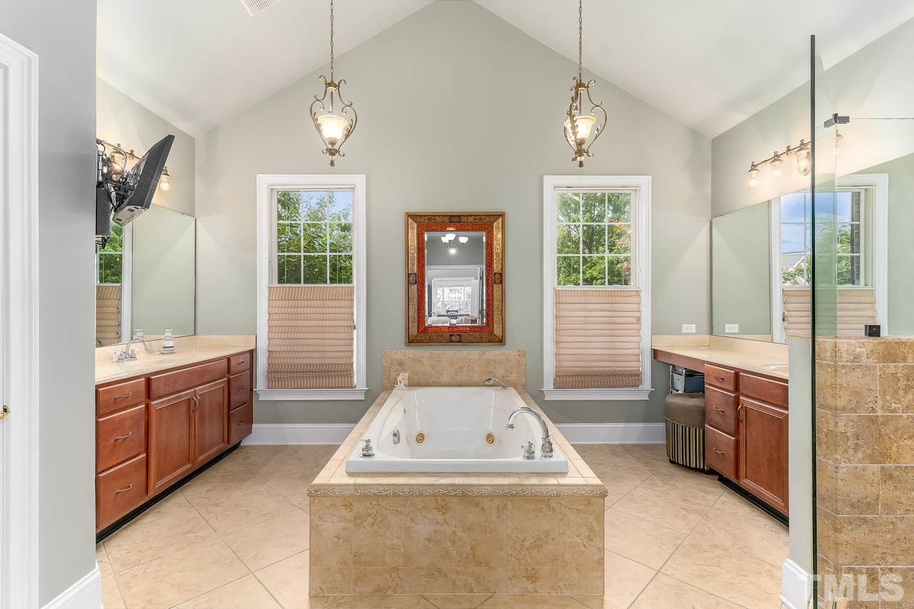 Huge master bathroom!