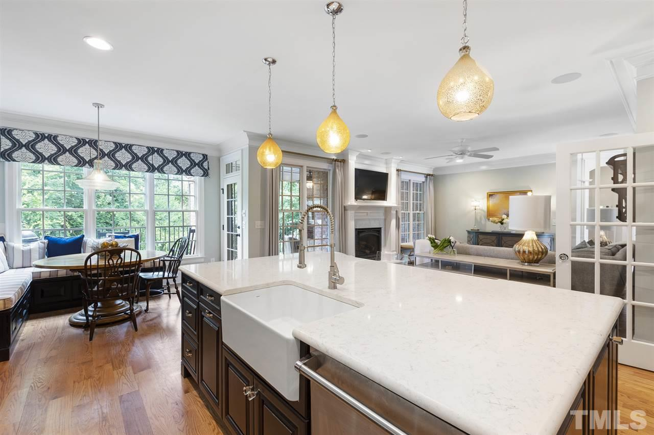 """Viking appliances, walk-in pantry and visual """"warmth"""" from a kitchen that will get plenty of use"""