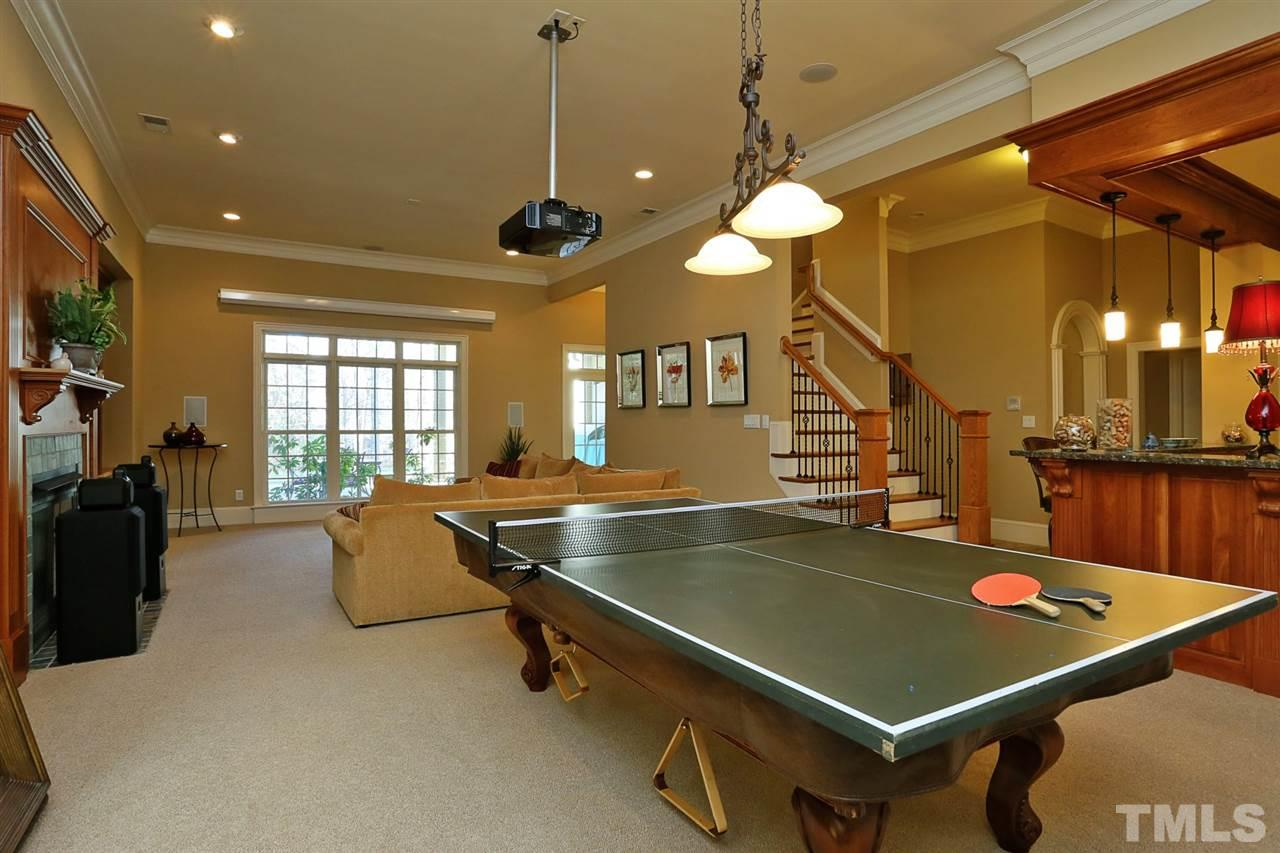 Also features a pool table and full bar.  A great space to entertain!