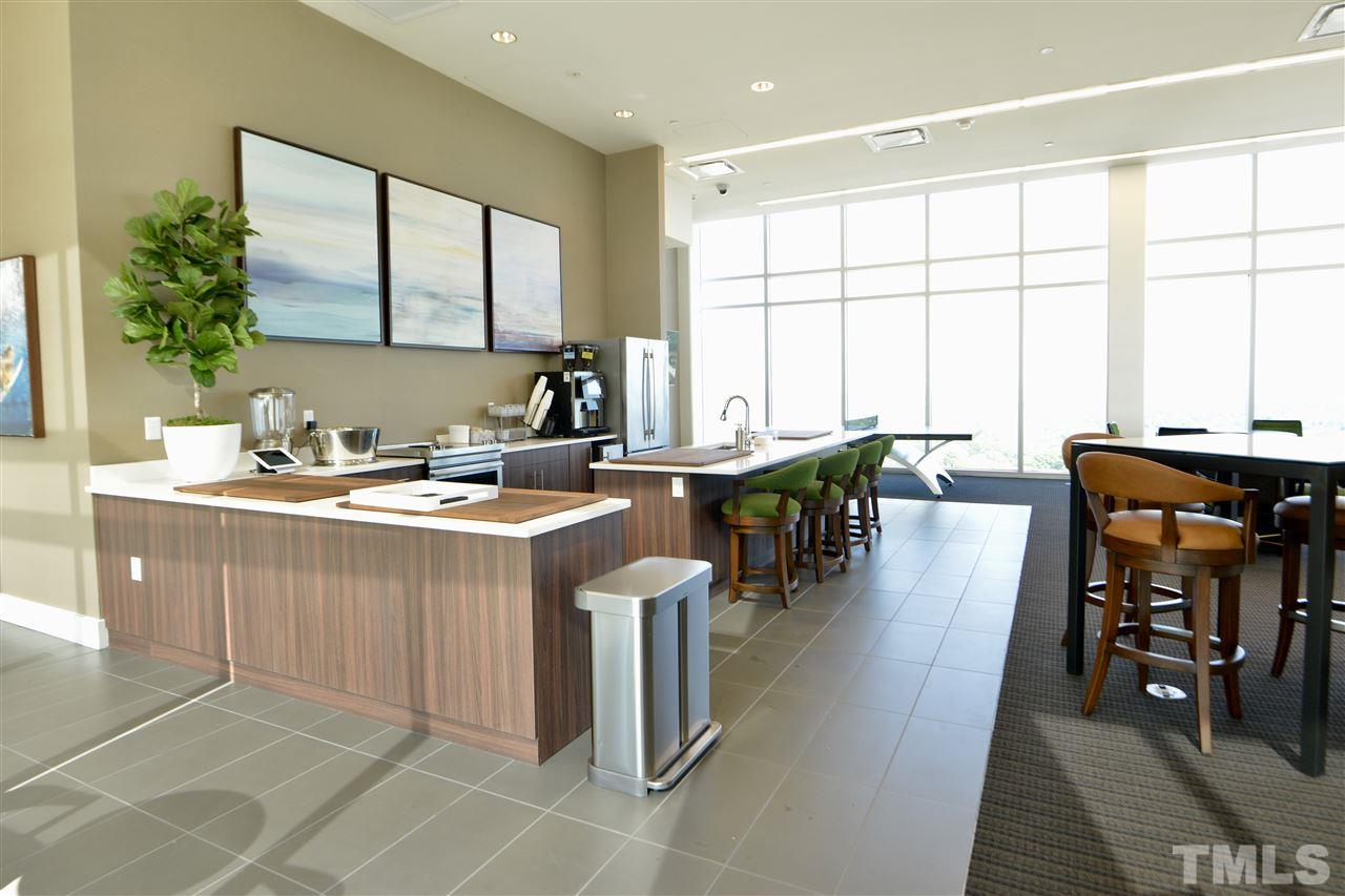 High-end common area offers gathering places to have coffee, watch the game, or just relax with friends and family.