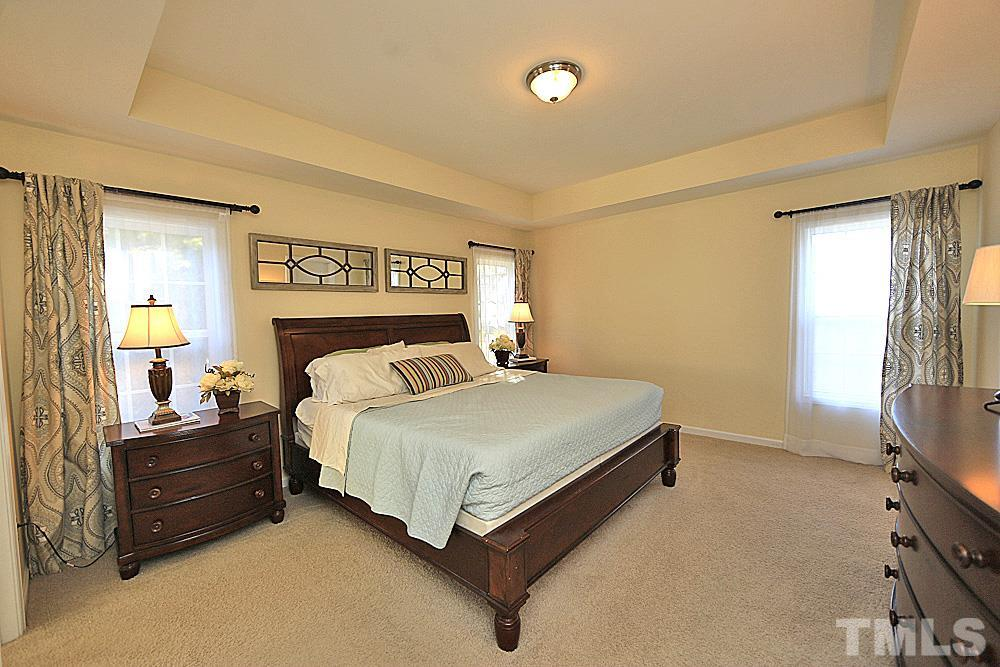 Tray ceilings and huge walk in closet!