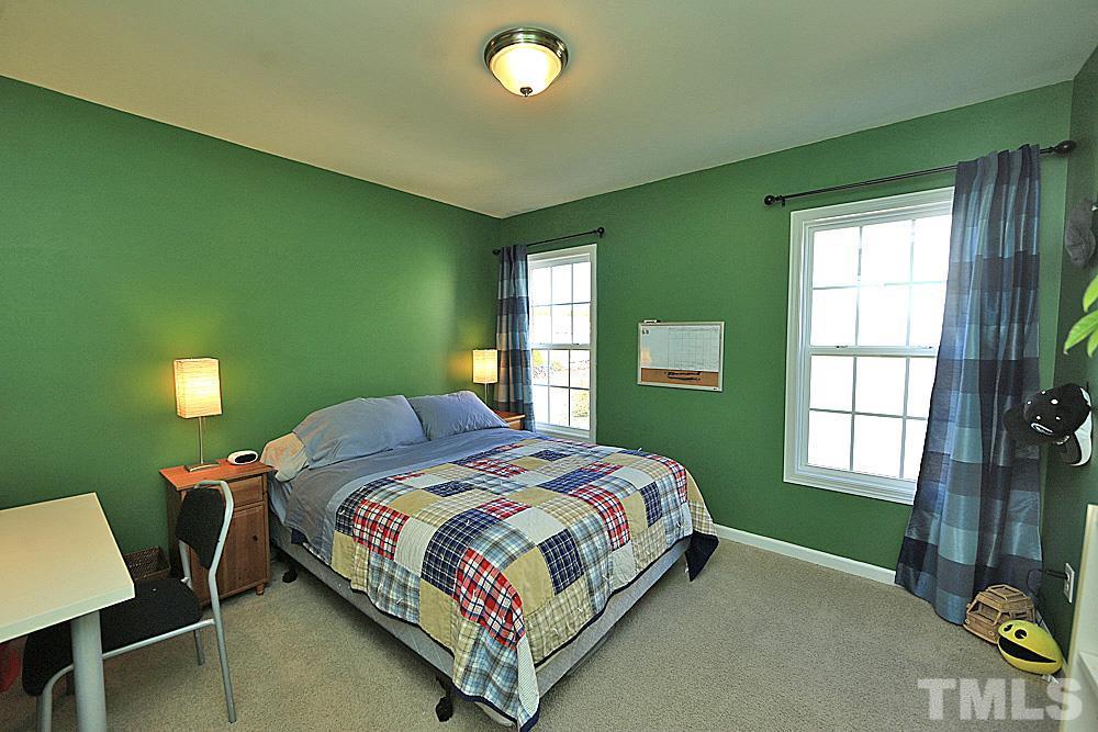 Bedroom with walk in closet.