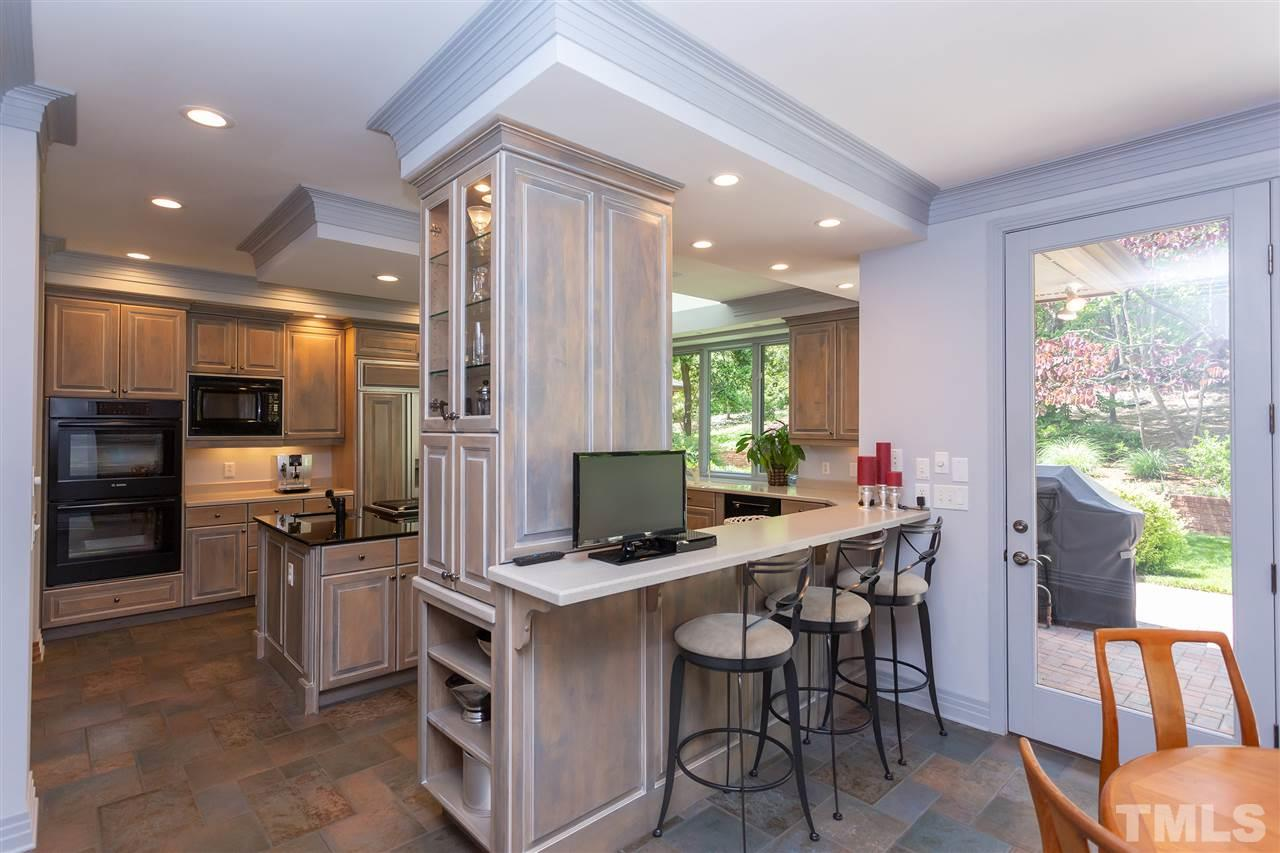 This view gives the perspective of the truly exquisite kitchen area. What is needed can be found here!