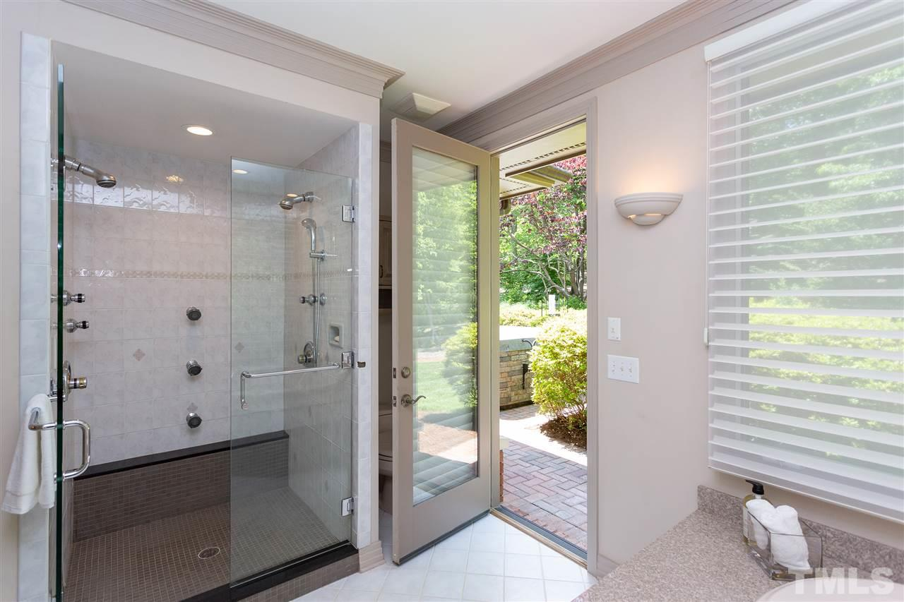 A garden tub and wonderful shower complete the spa.  There is a door right off this room to the hot tub.