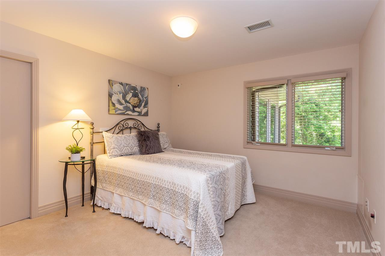 The second floor has three sizable bedrooms, each with access to a full bath. There is a fourth flex space which could serve as a bedroom if needed.
