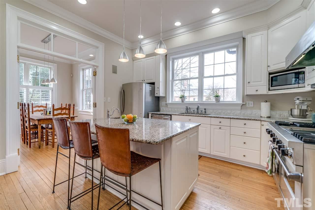 Kitchen with ample storage and lots of natural light!  Granite is from Mt. Airy Quarry.