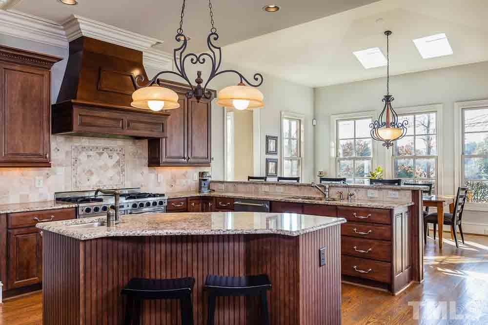 Large gourmet kitchen, the perfect gathering spot for entertaining.