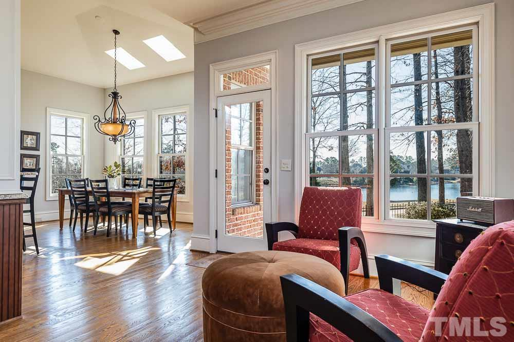 Sun room area provides for a cozy intimate setting.