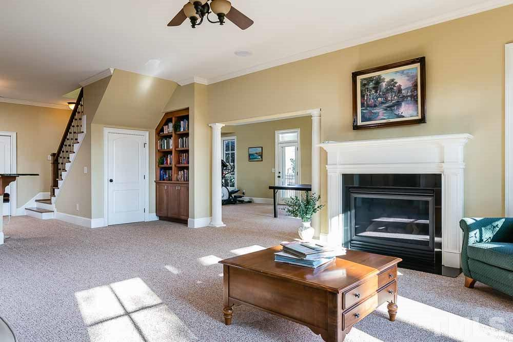 Large room adjacent to the bonus room is the perfect spot for a ping pong or pool table.