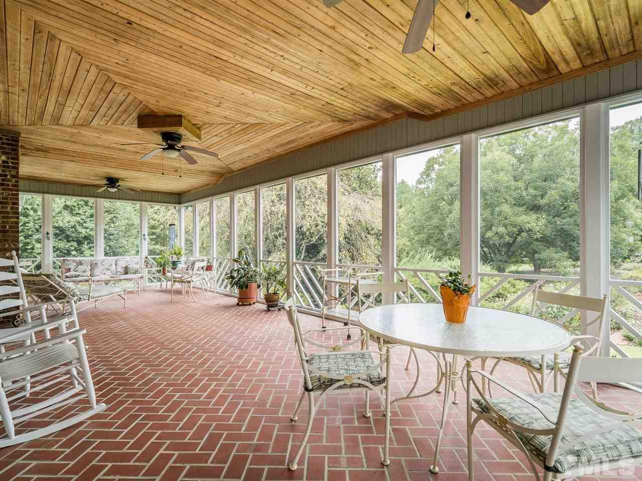 This screen porch can be enjoyed many months of the year with our favorable North Carolina climate.