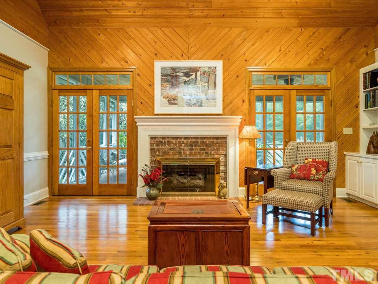 Friends and family will enjoy spending time in this inviting space by the gas log fireplace.
